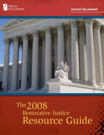 The2008 Resource Guide The2008 Resource ... - Prison Fellowship