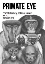 2010 Vol 102.pdf (1.98mb) - Primate Society of Great Britain