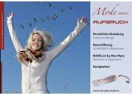 apriori - Modeschau Freitag, 25. September Freuen Sie ... - Schnyder