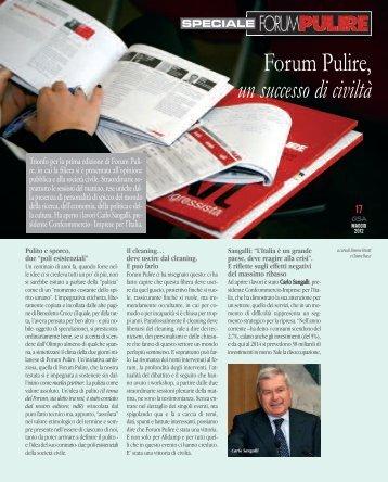 Forum Pulire, un successo di civiltà - Gsanews