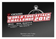Sponsor and Trader Information Kit - World Time Attack Challenge