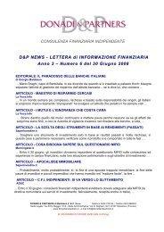 D&P News Anno 3 n. 6 del 30 giugno 2008 - donadiandpartners.it