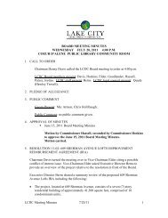 LCDC Meeting Minutes 7/20/11 1 BOARD MEETING MINUTES ...
