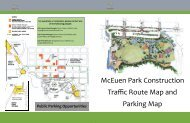McEuen Park Construction Traffic Route Map and Parking Map