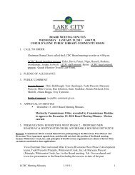 2011 Board Minutes - Lake City Development Corporation