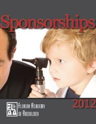 Gold Sponsorship Package - Florida Academy of Audiology