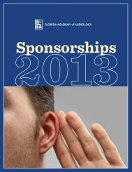 to download the 2013 Sponsorship booklet - Florida Academy of ...