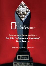 X - The US Amateur Championship
