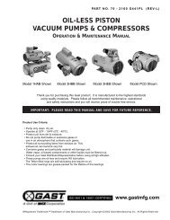 Piston Series Oilless Vacuum Pumps and Compressors Operation ...