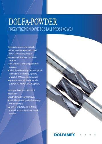 Dolfa-powder frezy trzpieniowe ze stali proszkowej - Artmet