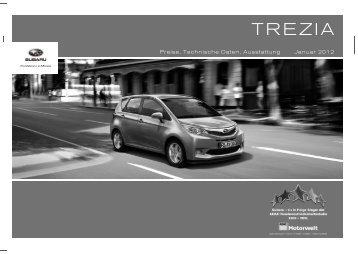 Technische Daten, Ausstattung und Preise des Subaru Trezia