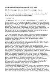 WZ; Wuppertaler Nachrichten vom 28. MÄRZ 2008 Die Nummer ...