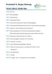 Protokoll 9. Stupa Sitzung 10.01.2012 16:00 Uhr - KeinDrama