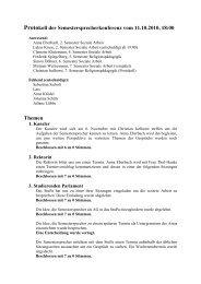 Protokoll der Semestersprecherkonferenz vom 11.10 ... - KeinDrama