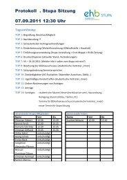 Protokoll . Stupa Sitzung 07.09.2011 12:30 Uhr - KeinDrama
