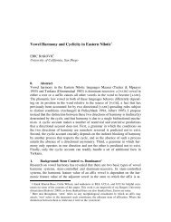 Vowel Harmony and Cyclicity in Eastern Nilotic* - Linguistics