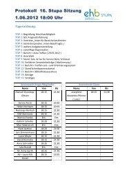 Protokoll 16. Stupa Sitzung 1.06.2012 18:00 Uhr - KeinDrama