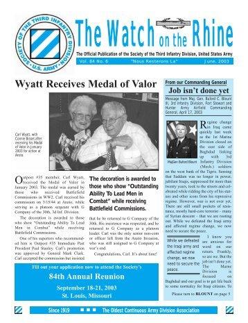 Watch_May-Jun 2003.qxd - World War II Memoirs - 3rd Infantry ...
