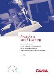 Akzeptanz von E-Learning - INNO-tec - Ludwig-Maximilians ...