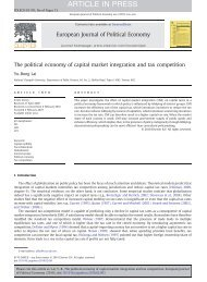 The political economy of capital market integration and tax competition