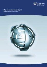 Micromarketer Generation3 Broschüre herunterladen - Experian.de