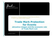 Trade Mark Protection for Events - Attractive Images and ... - INNO-tec