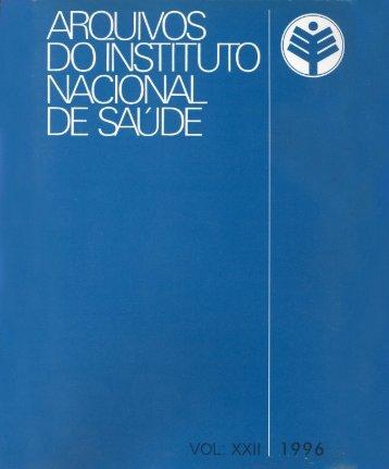 Vol 22 1996 - Repositório Científico do Instituto Nacional de Saúde