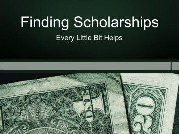 Finding Scholarships Finding Scholarships
