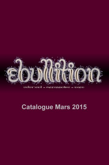 Ebullition Catalogue Mars 2015