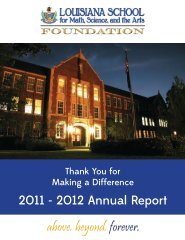 Annual Report 2011-12 - Louisiana School for Math, Science, and ...