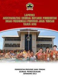 bab iii akuntabilitas kinerja - Dinas Pendidikan Provinsi Jawa Tengah