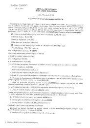 uchwalenia budżetu gminy na 2013 rok Na pod