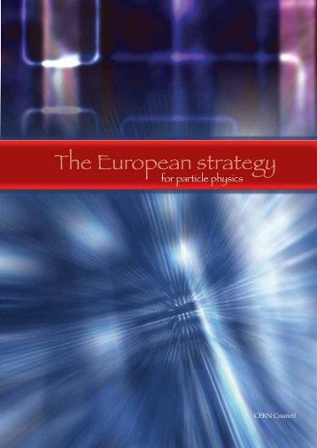 The European strategy for particle physics - Irfu - CEA