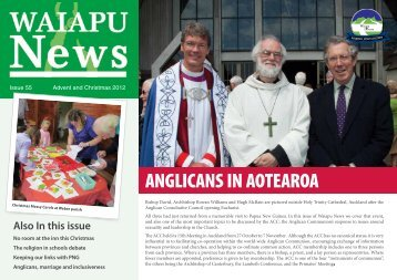 ANGLICANS IN AOTEAROA - Waiapu Anglican Social Services