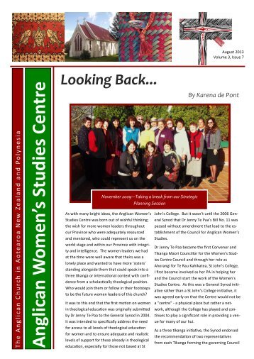 August 2013 Newsletters - Anglican Church in Aotearoa, New ...