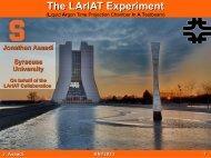 The LArIAT Experiment - LArTPC DocDB - Fermilab