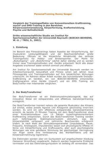 Dritte wissenschaftliche Studie am Institut für Sportwissenschaften der