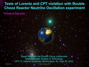 Tests of Lorentz and CPT violation with Double Chooz Reactor ...