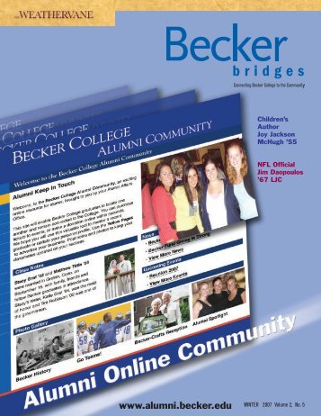 Winter 2007 - Becker College