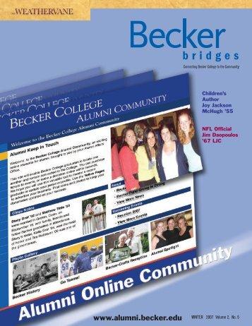 Winter 2007 - Becker College