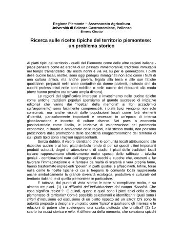 Ricette tipiche del territorio piemontese - Piemonte Agri