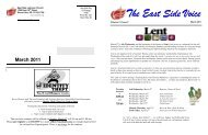 Newsletter 03 March 2011.pub - East Side Lutheran Church