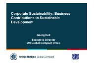 Business Contributions to Sustainable Development - Global ...