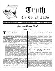 God's Sufficient Word - Sola Scriptura Ministries