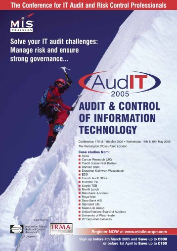 AUDIT & CONTROL OF INFORMATION TECHNOLOGY - ISACA Roma
