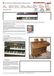 YAMAHA Keyboard - About this Site