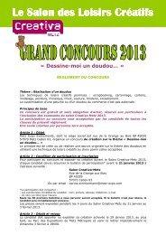 Réglement concours 2013 - Creavenue