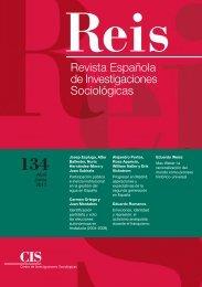 Revista Española de Investigaciones Sociológicas Nº134 - Consejo ...