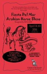 Fiesta Del Mar Arabian Horse Show - Region 1 Arabian Horse ...