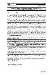 Progetto di fusione Data Centro - Banca CR Firenze